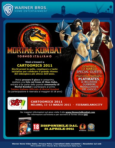 Al Cartoomics 2011 Il Torneo di Mortal Kombat!!