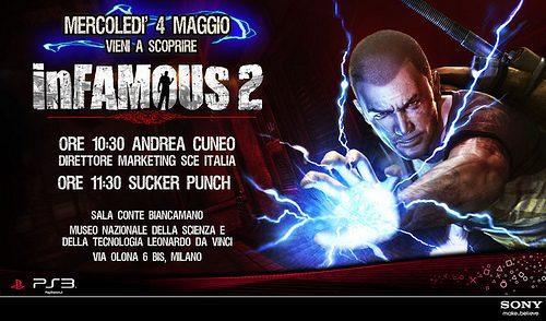 PlayStation vi invita all'evento giornalistico di inFamous 2!!