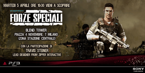 """PlayStation vi invita alla presentazione di """"Socom, forze speciali""""!"""