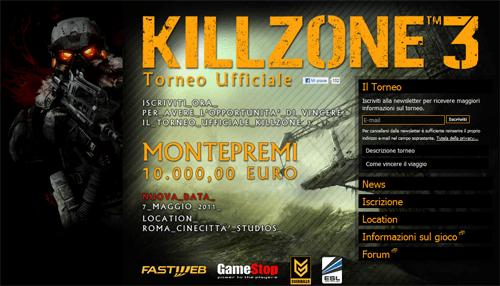 Nuova data per il torneo ufficiale di Killzone 3!!