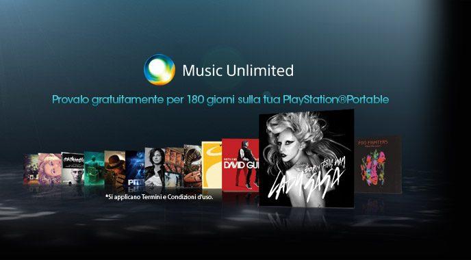 Music Unlimited gratis su PSP