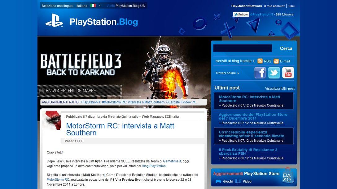 Il Blog PlayStation… si è tinto di blu!