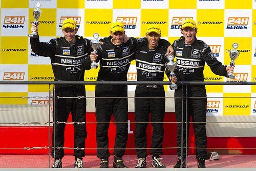 I Piloti della GT Academy sul podio della 24H di Dubai