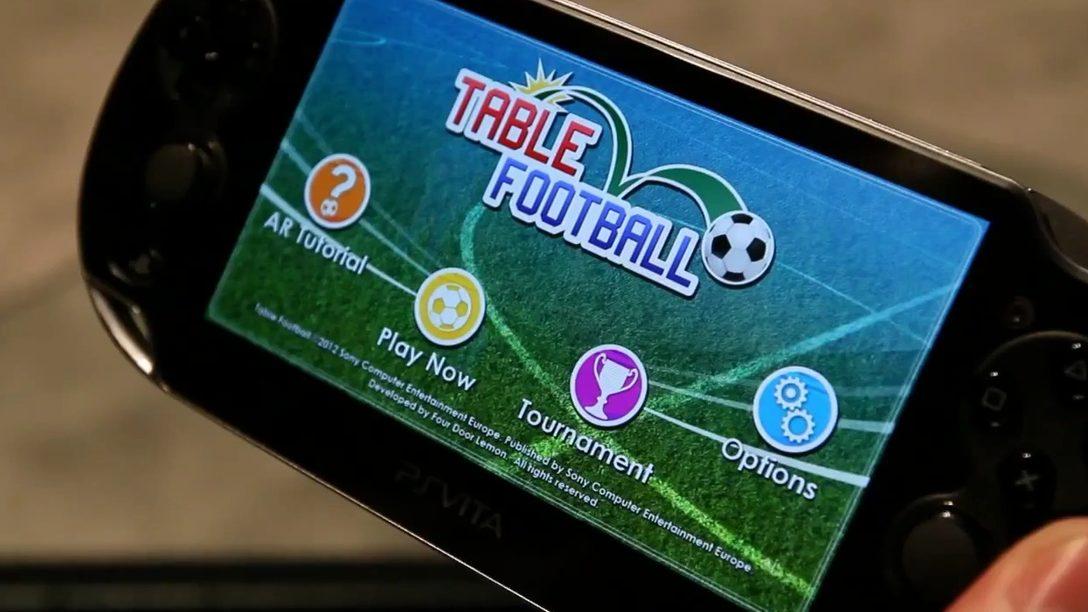 CES 2012: con la realtà aumentata di PS Vita un tavolo diventa un campo di calcio