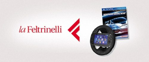 Prenota PS Vita da Feltrinelli e avrai in regalo Ridge Racer con l'esclusivo volante