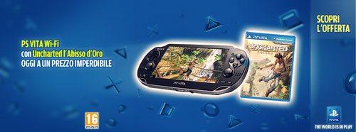 PS Vita Wi-Fi con Uncharted L'Abisso d'Oro ad un prezzo incredibile!