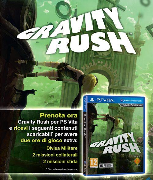 Sfida la forza di gravità con la promozione del pre-order di Gravity Rush