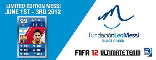 Aggiudicatevi un Messi virtuale in edizione limitata per FIFA 12 Ultimate Team