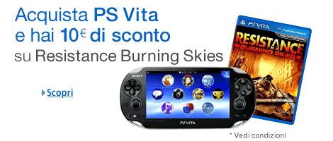 Consigli per gli acquisti: Resistance Burning Skies con PS Vita su Amazon.it a prezzo scontato