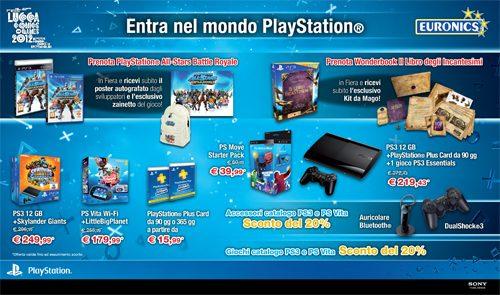 Lucca Comics & Games 2012 – Le offerte dello stand Sony PlayStation