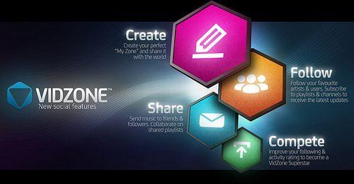 Crea, segui, condividi, competi… VidZone è diventato social!