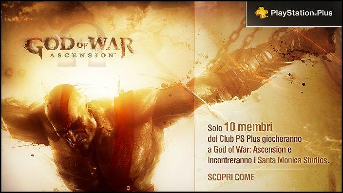 Sei abbonato a PS Plus? Potresti incontrare gli sviluppatori di God of War: Ascension. Se ancora non l'hai fatto, entra a far parte del club!