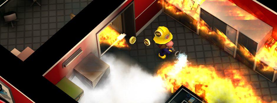 Primo video dell'azione di gioco di Flame Over, il titolo di estinzione di incendi in stile roguelike per PS Vita