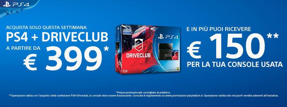 PS4 e DRIVECLUB ad un prezzo strepitoso!