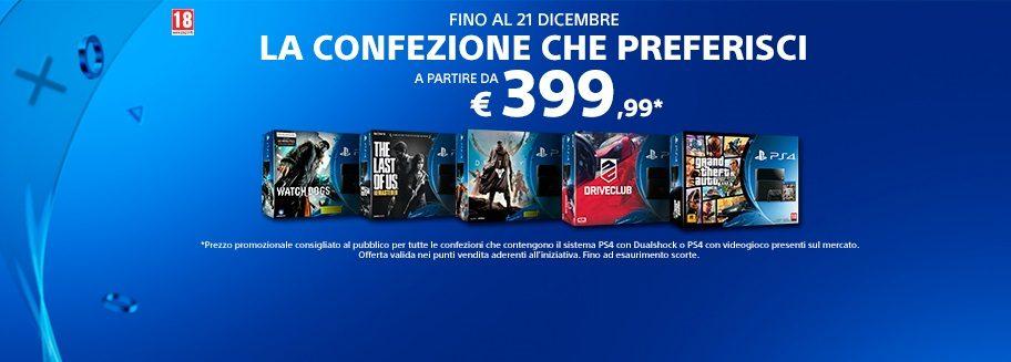 PlayStation 4 – La confezione che preferisci ad un prezzo strepitoso