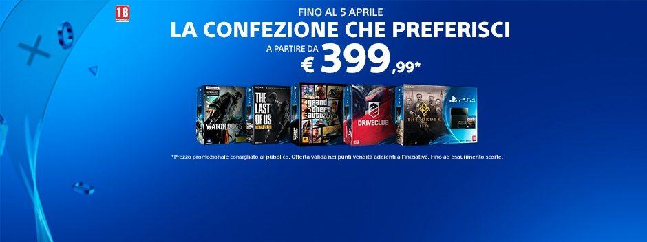 PlayStation 4 – La confezione che preferisci a partire da €399,99*