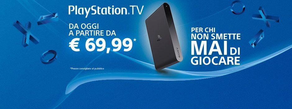 PlayStation TV – Da oggi a partire da €69,99