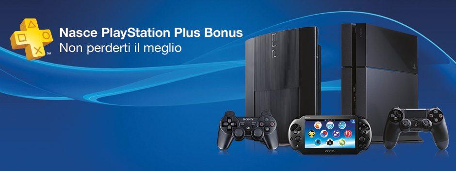 Nasce PlayStation Plus Bonus