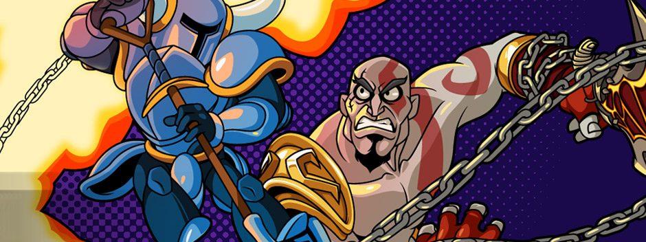 Un'anteprima del duello con Kratos in Shovel Knight!