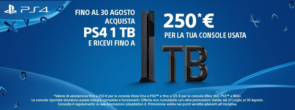 PS4 Ultimate Player 1TB Edition, fino a 250 € per la tua console usata.
