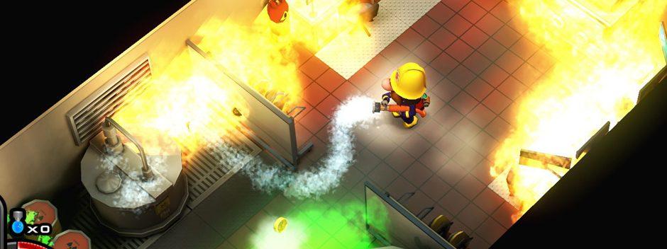 L'acclamato gioco roguelike di pompieri Flame Over arriva su PS4 la prossima settimana
