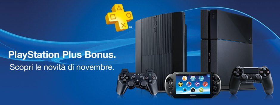PlayStation Plus Bonus – scopri le novità di novembre