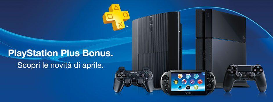 PlayStation Plus Bonus di Aprile