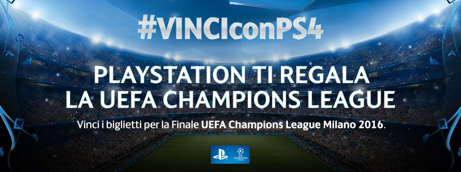 PLAYSTATION TI REGALA UEFA CHAMPIONS LEAGUE