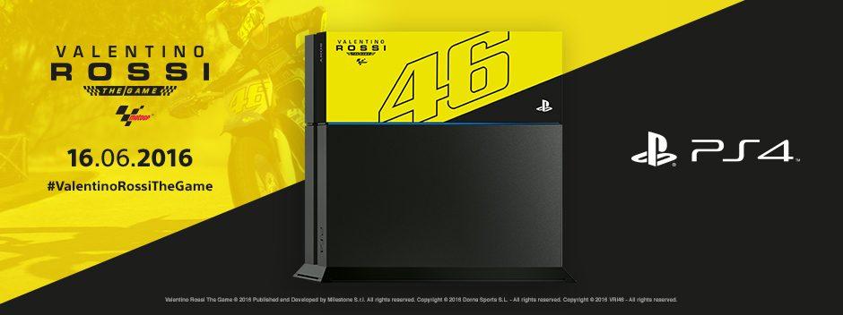 In arrivo l'edizione limitata PS4™ 1TB con cover personalizzata di Valentino Rossi The Game