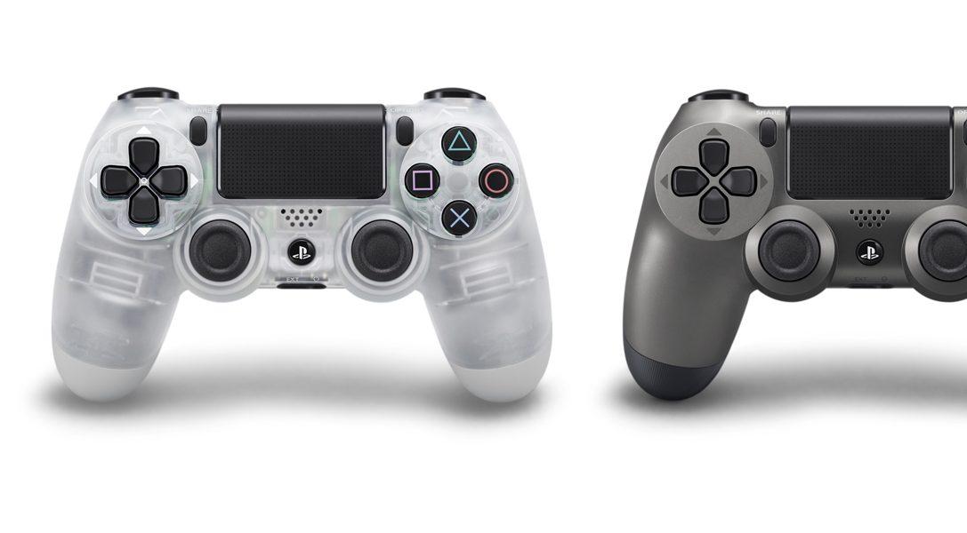 I controller wireless DUALSHOCK 4 Crystal e Steel Black saranno disponibili a luglio