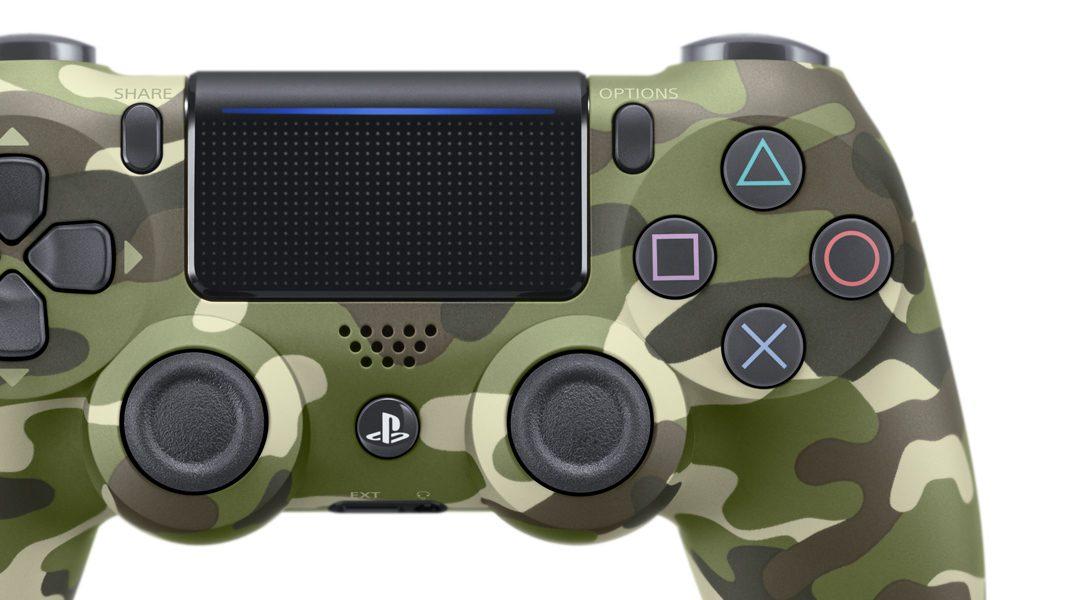 Svelato un nuovo controller wireless DUALSHOCK 4 in verde mimetico