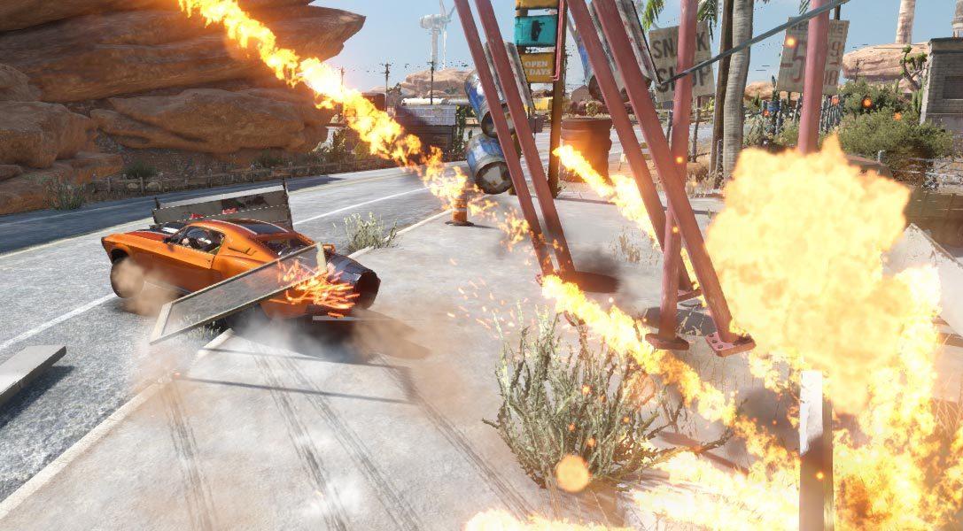 Ecco perché il deserto è il palcoscenico perfetto per il gioco di guida arcade più amato dagli sfasciacarrozze: Flatout 4: Totally Insanity, in uscita la prossima settimana