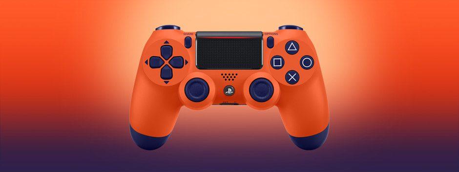 Presentazione del controller wireless DUALSHOCK 4 Sunset Orange, disponibile dal 13 novembre