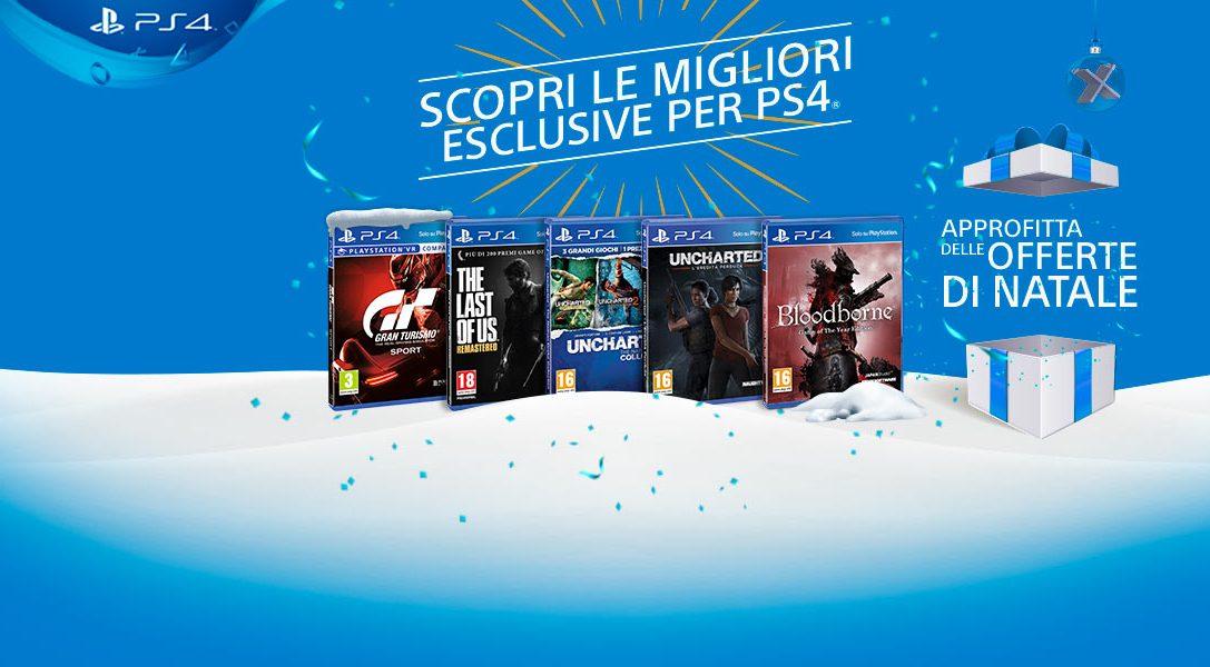 A Natale, regala le emozioni di PlayStation! Scopri  gli sconti sulle migliori esclusive PS4