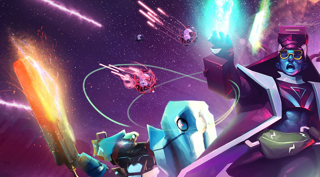 Affrontate un assalto di nemici digitali nel punitivo sparatutto per PS VR Blasters of the Universe, in uscita il 27 febbraio
