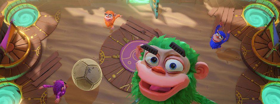 Scimpazziamo?, il nuovo titolo scimmiesco multigiocatore per PlayLink, arriva con tutti i suoi minigiochi il 14 novembre!