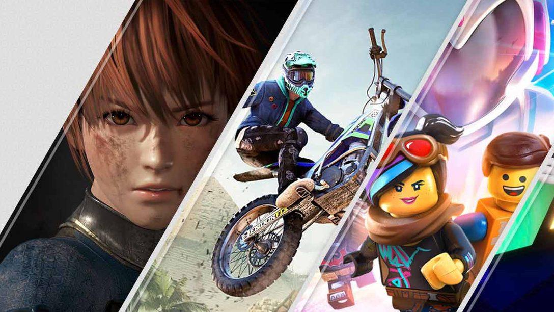 Le novità sul PlayStation Store di questa settimana: Dead or Alive 6, Trials Rising, The LEGO Movie 2 Videogame e molto altro