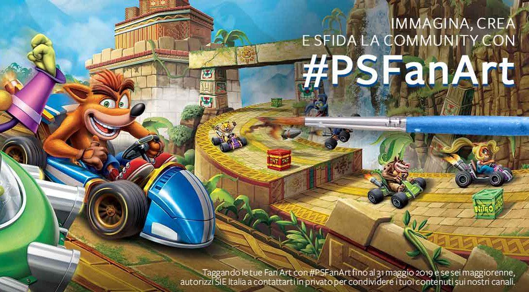Le vostre #PSFanArt a tema Crash CTR