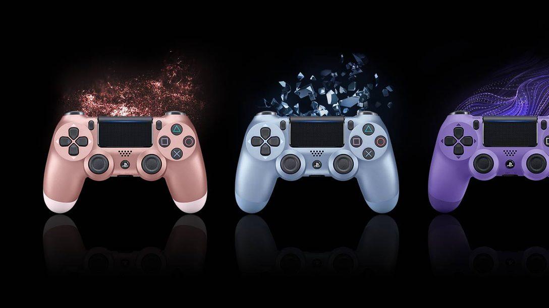 I nuovi Dualshock 4, in arrivo questo autunno.