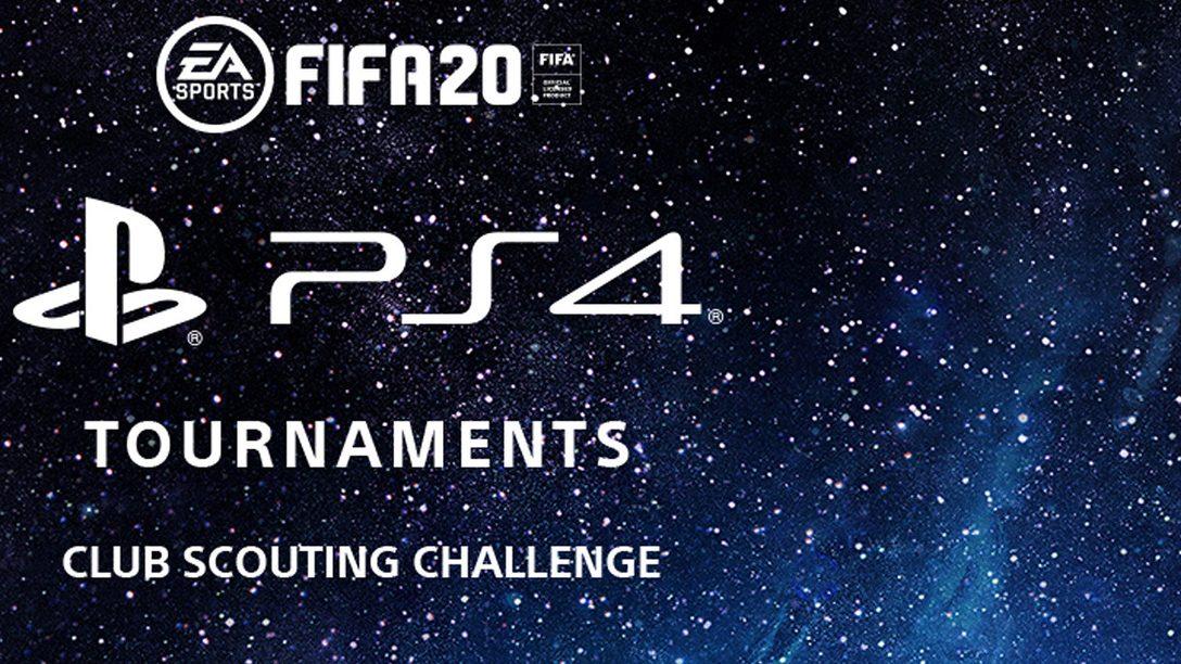 Arriva la Club Scouting Challenge di FIFA 20 per i Tornei PS4
