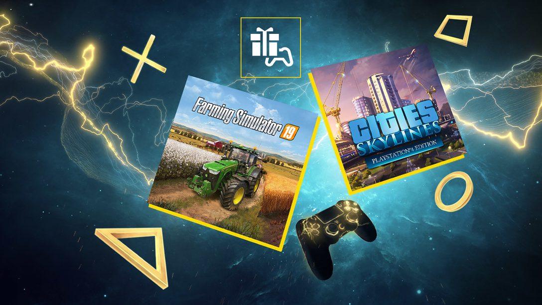 Cities: Skylines e Farming Simulator 19 sono i giochi PlayStation Plus di maggio