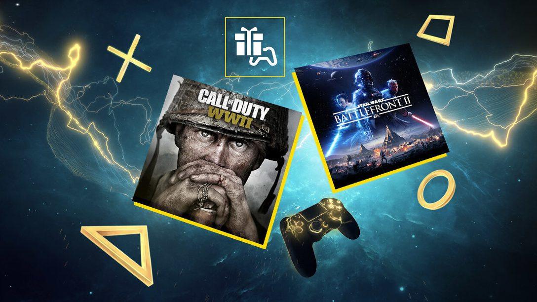 Star Wars Battlefront II e Call of Duty: WWII  sono i tuoi giochi PS Plus di giugno