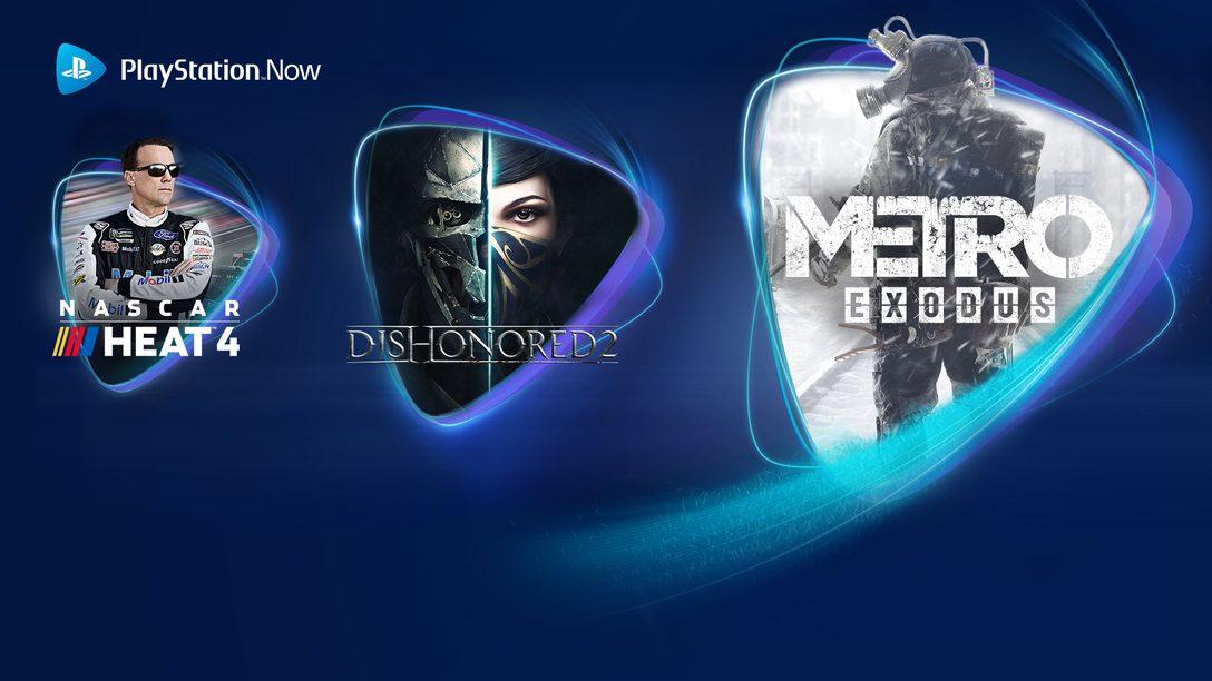 Metro Exodus, Dishonored 2 e NASCAR 4 arrivano su PS Now a giugno