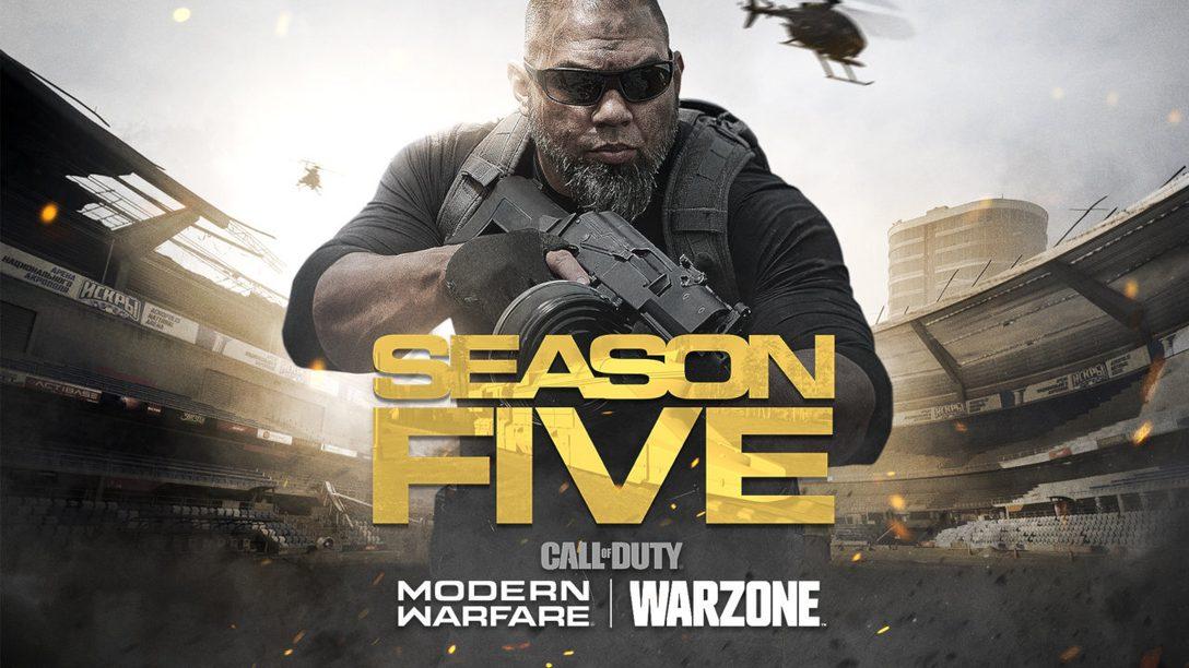 La Stagione cinque di Call of Duty: Modern Warfare espande Warzone con uno stadio, un treno e molto altro ancora