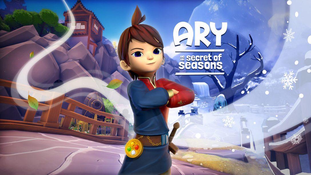 Controlla il potere della primavera, dell'estate, dell'autunno e dell'inverno in Ary and the Secret of Seasons