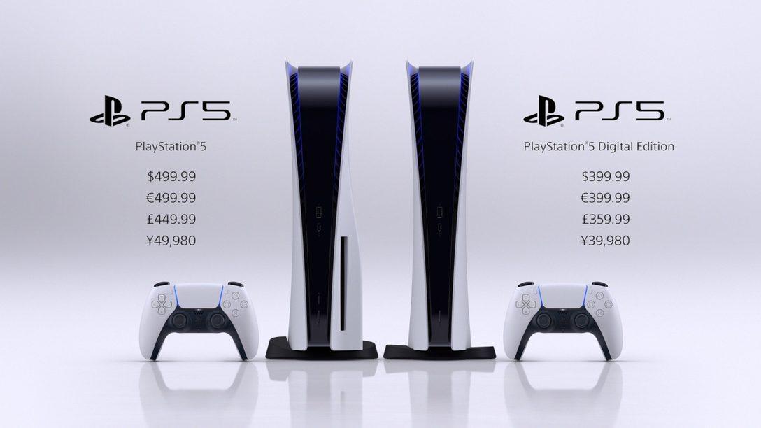 PlayStation 5 in arrivo a  Novembre, PS5 Digital Edition a 399,99€ e  PS5 con Ultra HD Blu-Ray Disc Drive a 499,99€