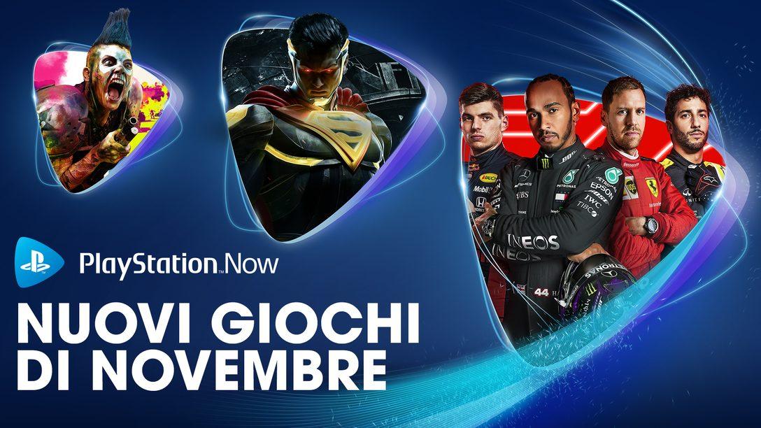 F1 2020 ,Injustice 2 e Rage 2 e sono i tuoi giochi PS Now di novembre
