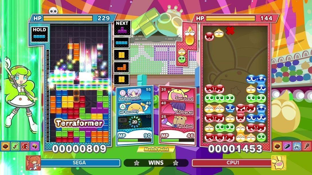 Immergiti nella modalità Battaglia tecnica di Puyo Puyo Tetris 2