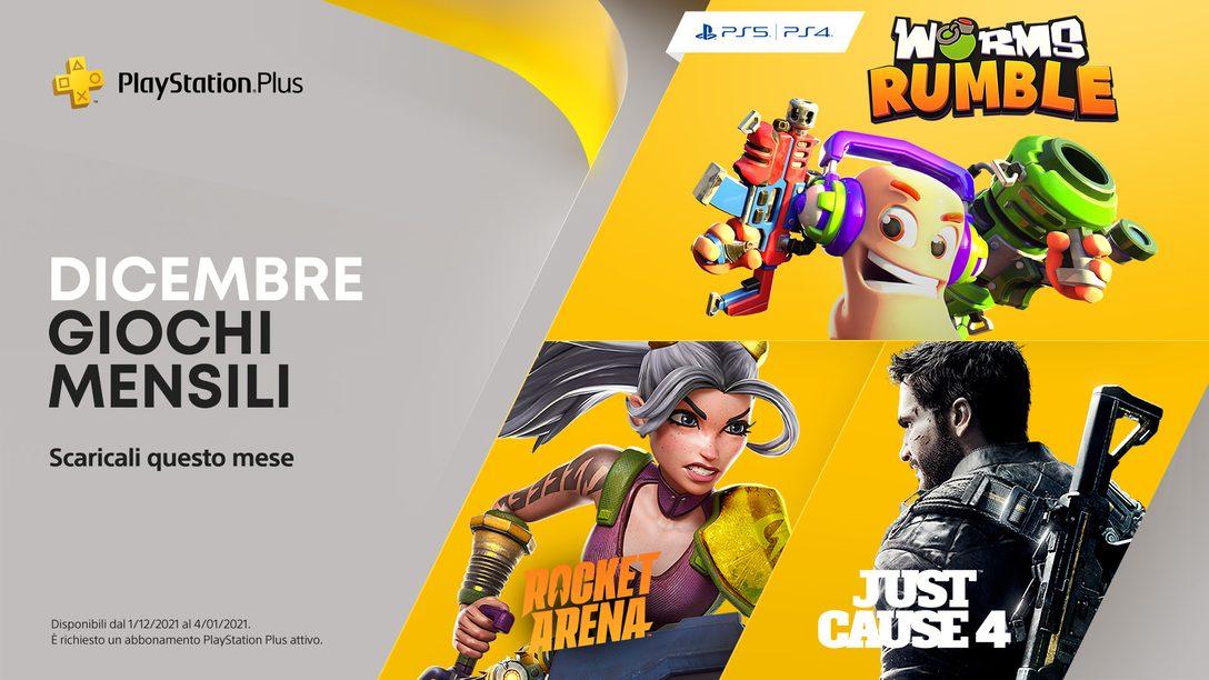 Worms Rumble, Just Cause 4 e Rocket Arena sono i tuoi giochi PlayStation Plus di dicembre