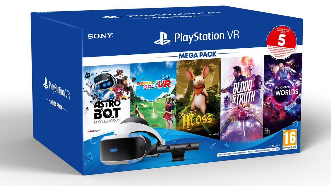 Il Mega Pack PS VR, che include 5 fantastici giochi, sarà disponibile questo mese in Europa, Australia e Nuova Zelanda
